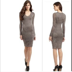BCBG mid length bodycon type dress animal print